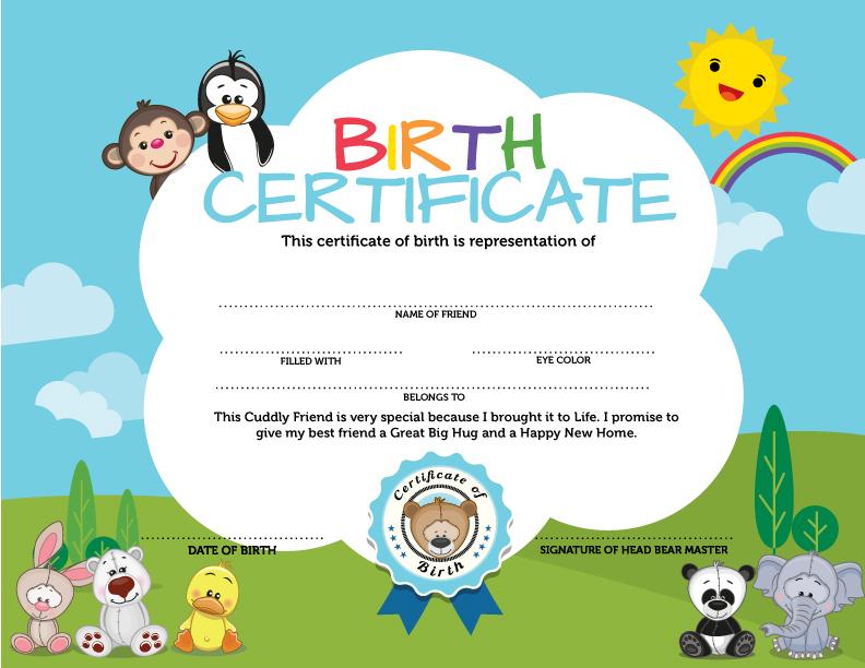 NEW Birth Certificate (pkg of 250) 6\